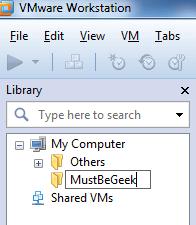 Rename Folder Name in VMware Workstation 8