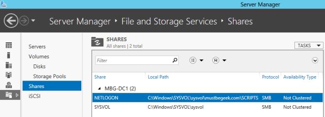 Setup Shared Folder in Windows Server 2012