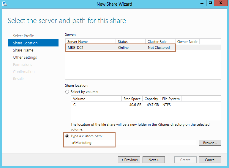 how to find a shared folder path