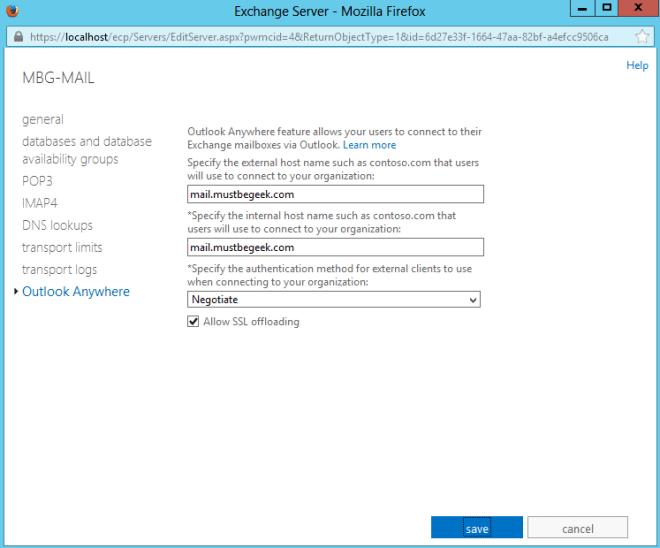 Outlook Anywhere URL