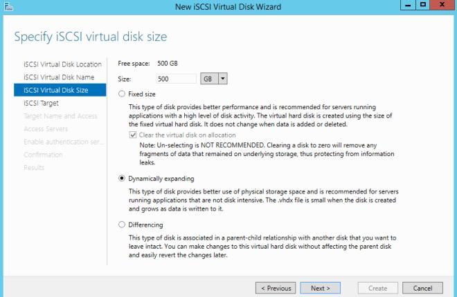 Virtual Disk Dynamically expanding