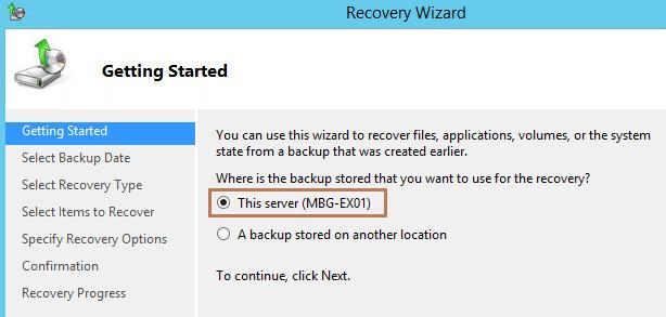 Restore Mailbox Database in Exchange 2016