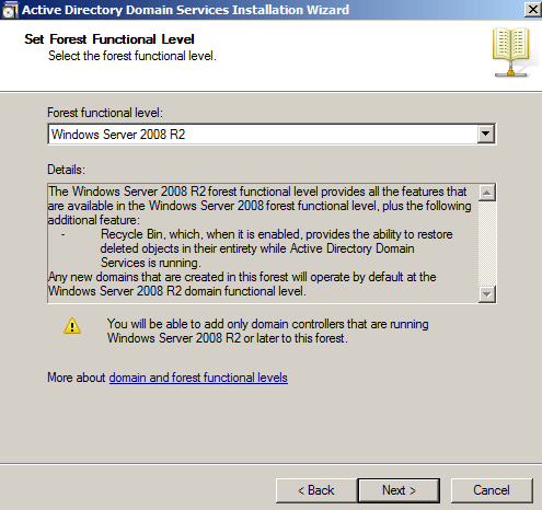 Install Active Directory Domain Controller in Windows Server 2008 R2