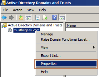 Create Two-Way Forest Trust in Windows Server 2008 R2