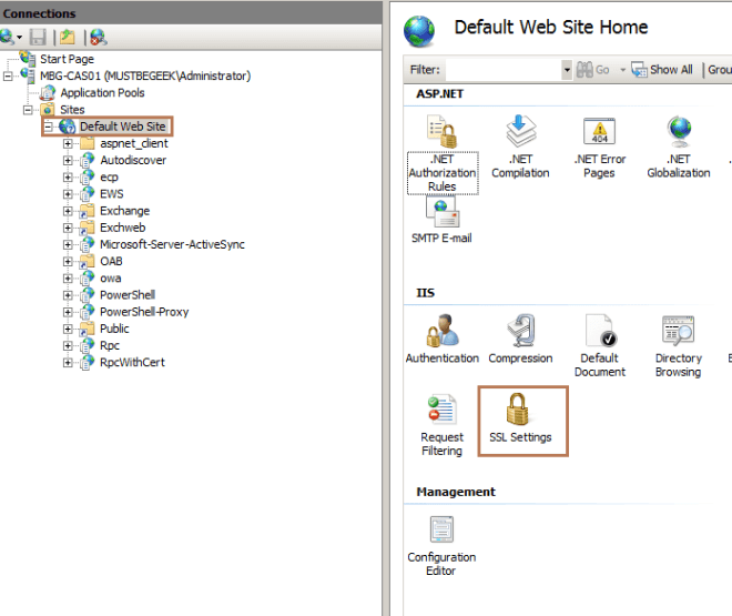 HTTP to HTTPS and OWA Redirection in Exchange 2010