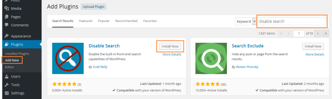 Steps to Remove Search Feature from WordPress Completely