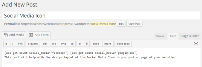 Setup AccessPress Social Counter Plugin