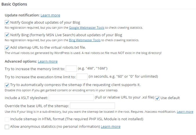 Create XML Sitemaps using Google XML Sitemaps Plugin
