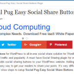 Setup Social Pug Easy Social Share Buttons Plugin