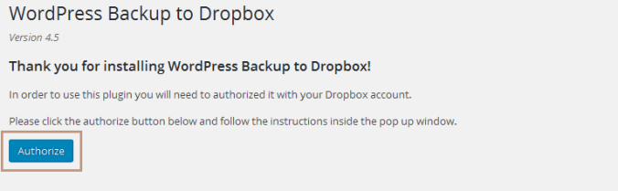 Backup WordPress with WordPress Backup to Dropbox Plugin