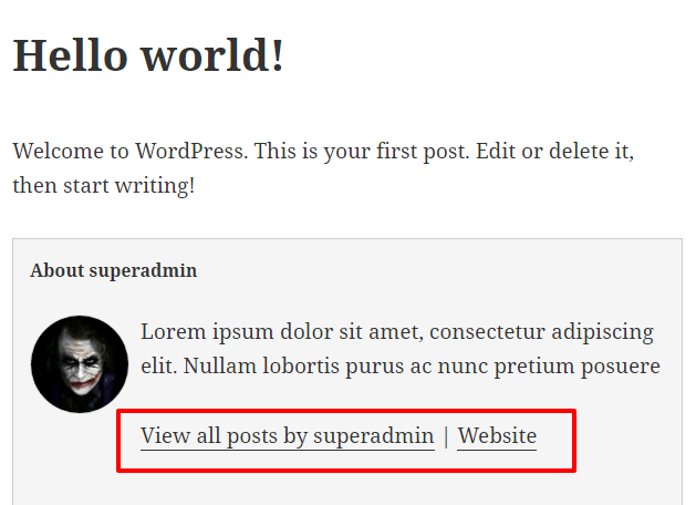 How to add Author Box in WordPress Posts