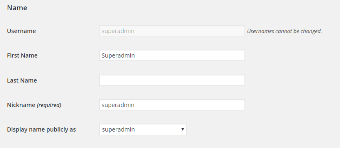 7. Personal info setting