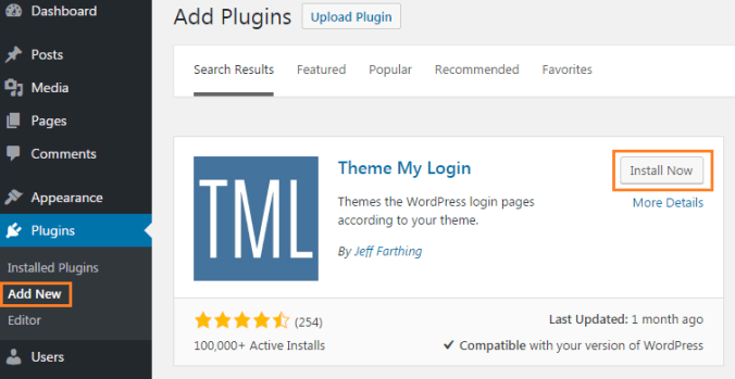 Adding Front End Login Feature with Theme My Login Plugin
