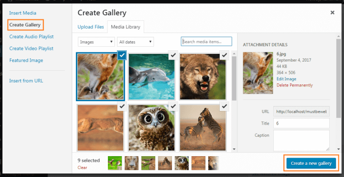 add image - Adding Image Gallery in WordPress