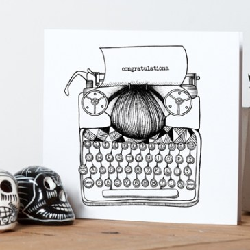 Typewriter 'Congratulations' – Greetings Card