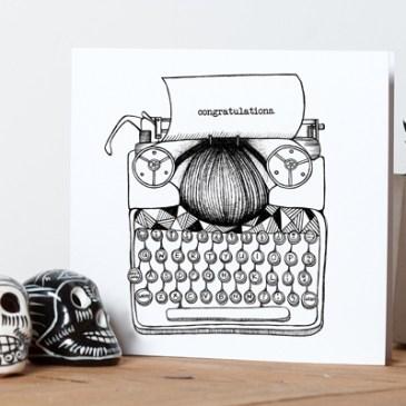 Typewriter 'Congratulations' – Greetings Card