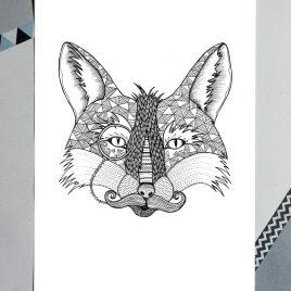 Fox – A4 Unframed Print