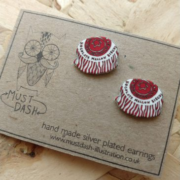 Tunnocks Teacake Earrings