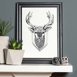 Stag – A4 Unframed Print