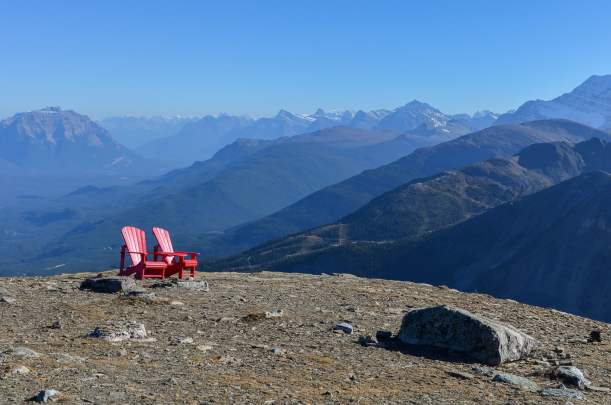 View from the top of whistlers mountain