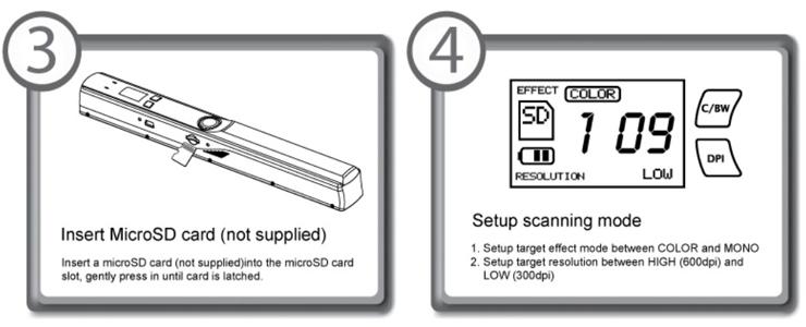 Portable Handheld Document Scanner W520