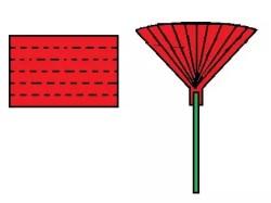 Anleitung Folienblumen basteln