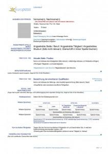 Europass Cv Online Erstellen Free Cv Template Download Reed
