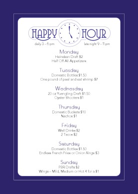 Cocktail Happy Hour Table Tent Design Templates By