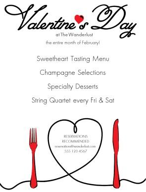 Customize Valentines Date Flyer