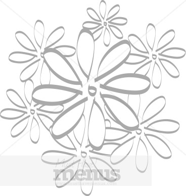 Stylized Daisy Grouping Floral Accents