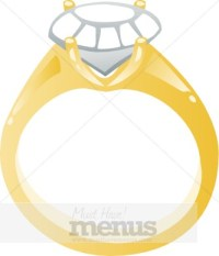 Engagement Ring Clipart | Wedding Clipart