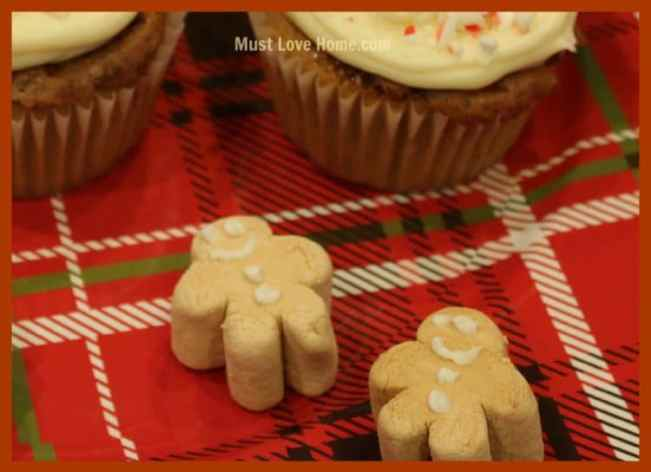 Love the old-fashioned taste of Gingerbread Men? Whip up a dozen of these adorable little Gingerbread Man Cupcakes in no time! Just 4 ingredients and you are ready to go! Perfect for holiday potlucks,bake sales or just because! You can have these festive little cupcakes in less than an hour!