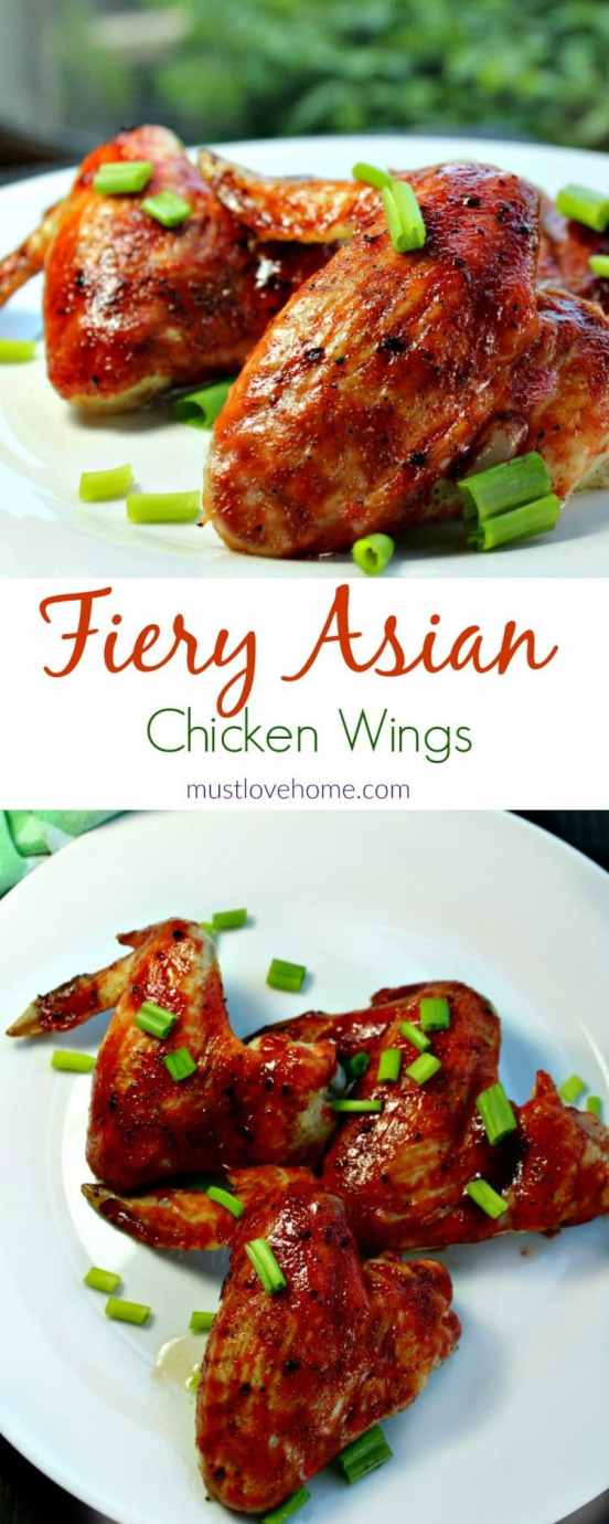 fiery asian chicken wings must love home. Black Bedroom Furniture Sets. Home Design Ideas
