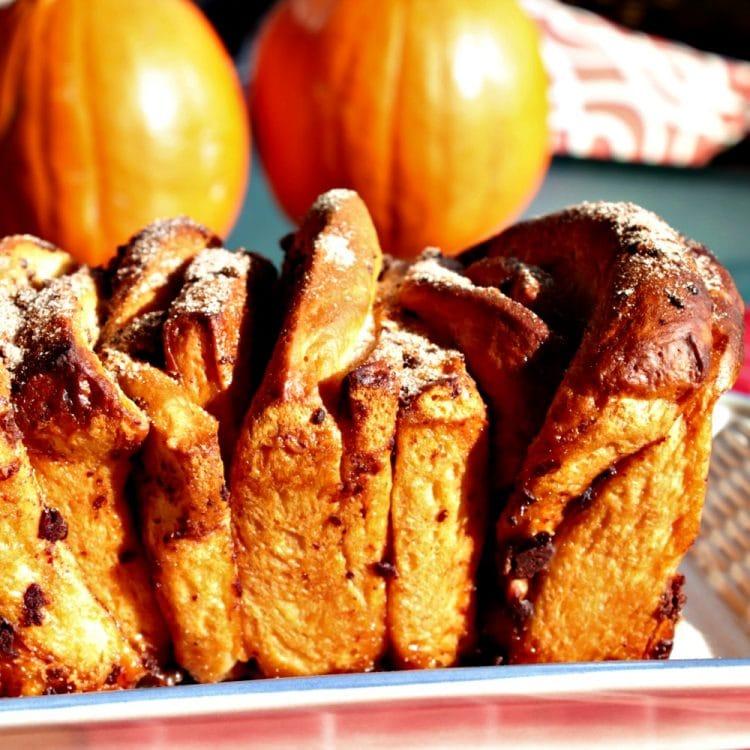 Chocolate  Pumpkin Spice Pull Apart Bread