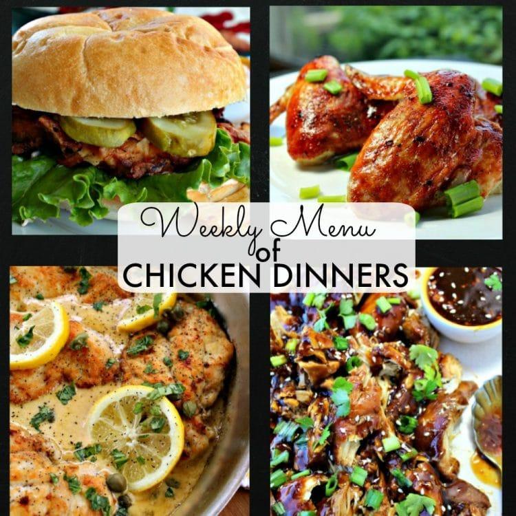 Weekly Menu Chicken Dinners