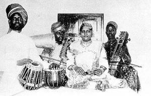 Jankibai, d.1926. Photo: Arthur Clarke, 1902<br />from The Music Goes Round, 1943.