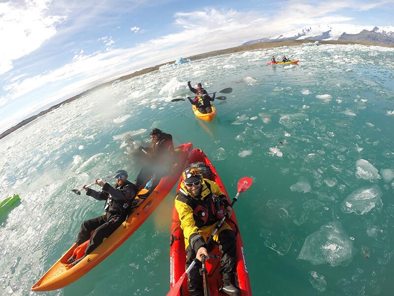 Jökulsárlón Glacier Lagoon Kayaking.