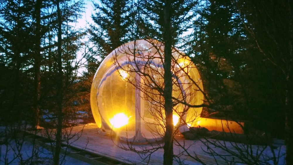 sleeping pods in Iceland.