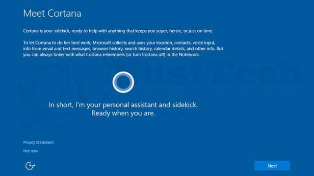 Windows 10 - Setup Cortana