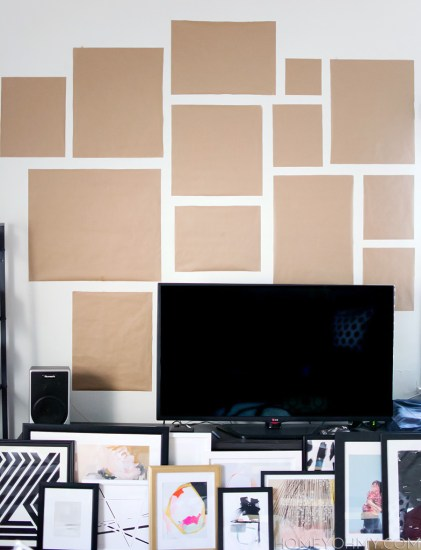 Kraft-paper-gallery-wall-planning