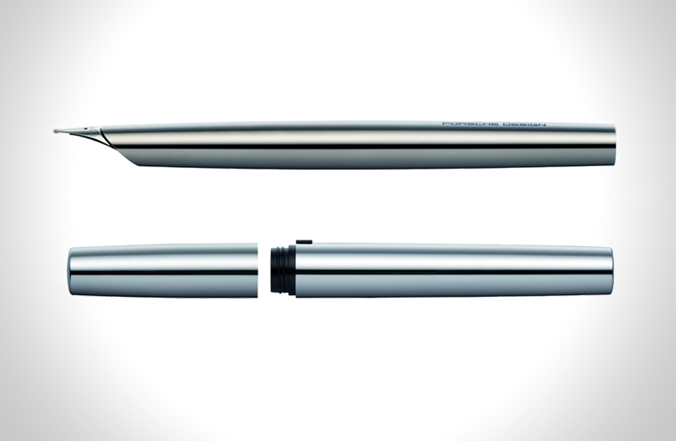 PORSCHE DESIGN P'3135 SOLID TITANIUM FOUNTAIN PEN