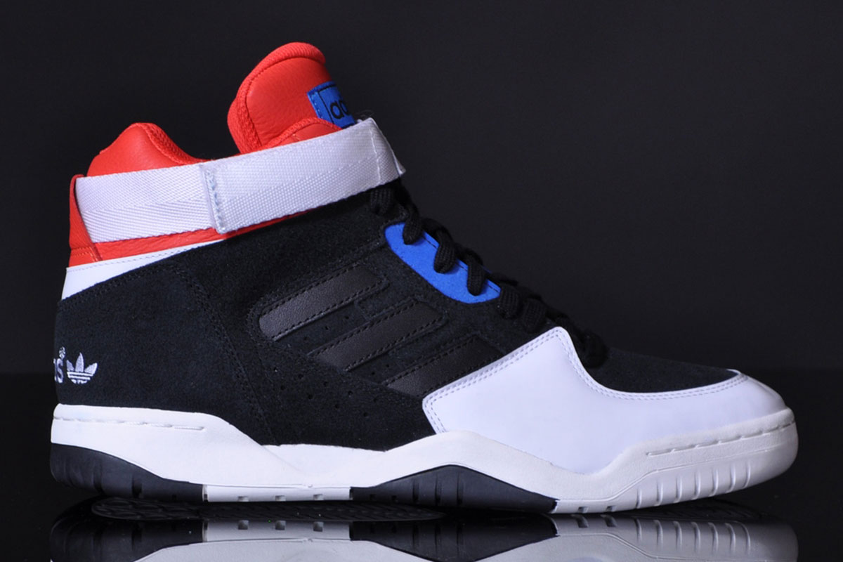 ADIDAS ORIGINALS ENFORCER MID (BLACK/WHITE VAPOR/RED/BLUE)