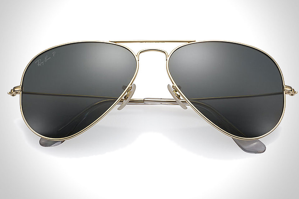 RAY-BAN 18K GOLD AVIATOR