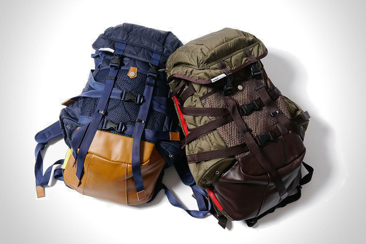 CASH CA X IMMUN. QUILTING BACKPACK (OLIVE & NAVY)