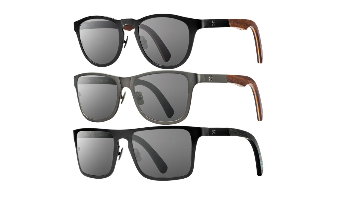 SHWOOD FIFTY/FIFTY TITANIUM SUNGLASSES