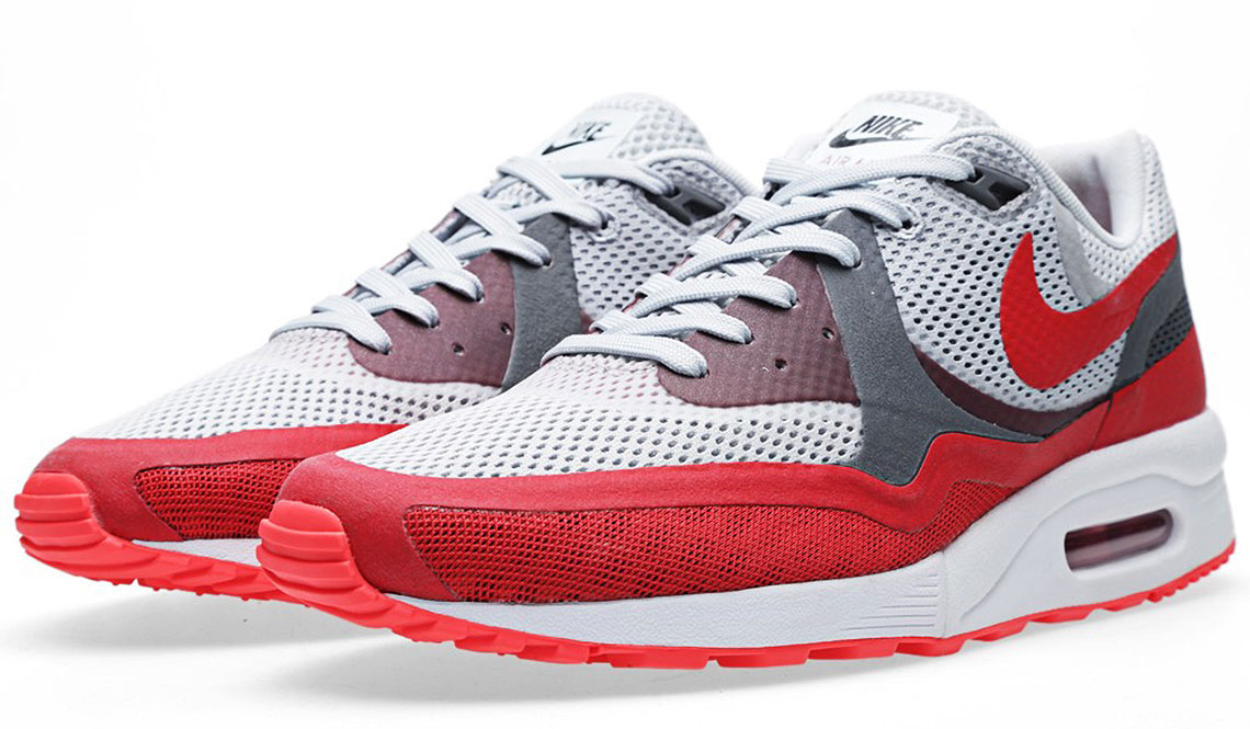 NIKE AIR MAX LIGHT BREATHE – PURE PLATINUM & UNIVERSITY RED