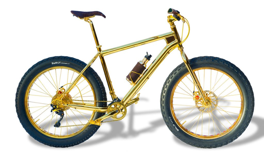 THE BEVERLY HILLS EDITION SOLID GOLD MOUNTAIN BIKE