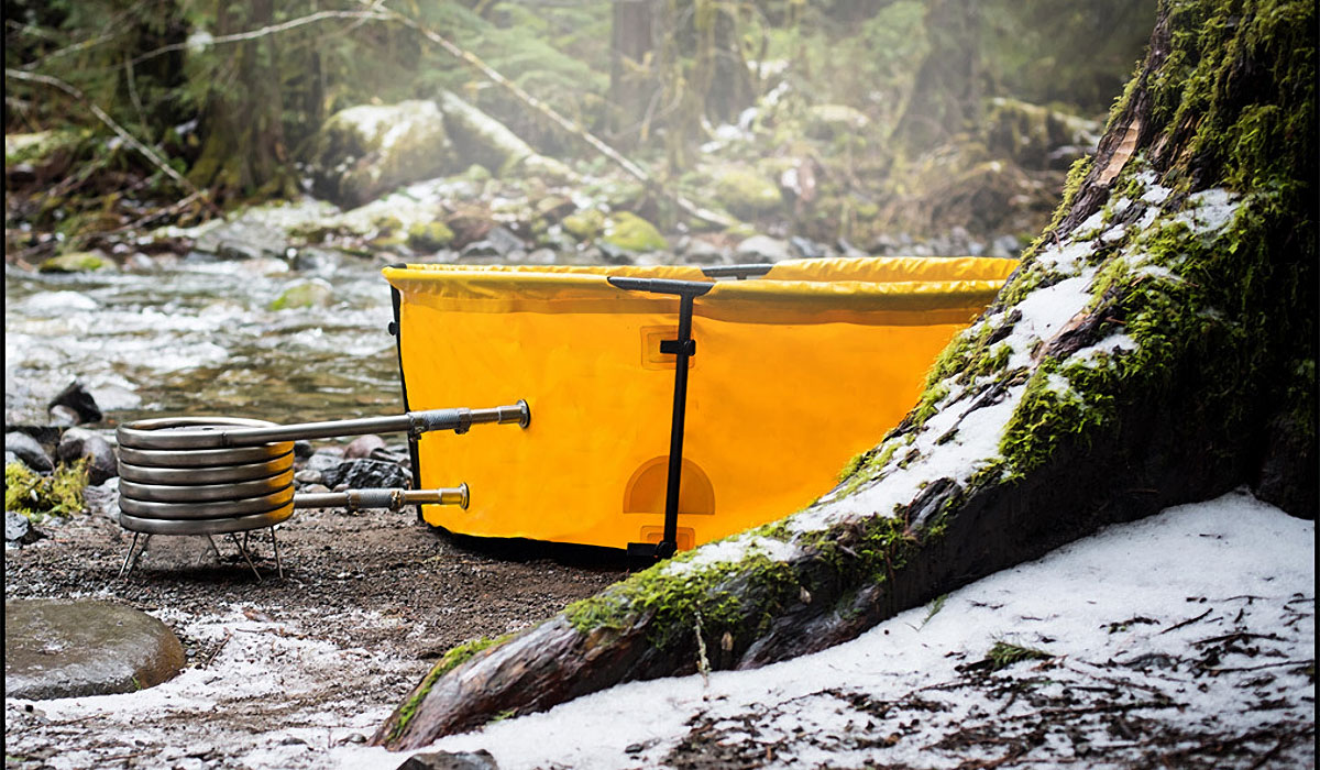 NOMAD COLLAPSIBLE SOAKING TUB WITH COIL