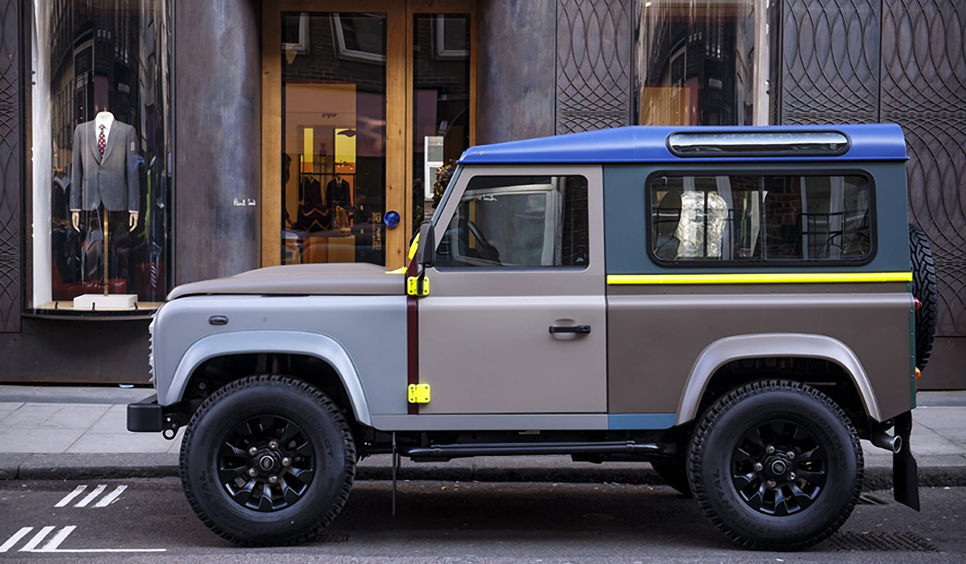 BESPOKE PAUL SMITH LAND ROVER DEFENDER