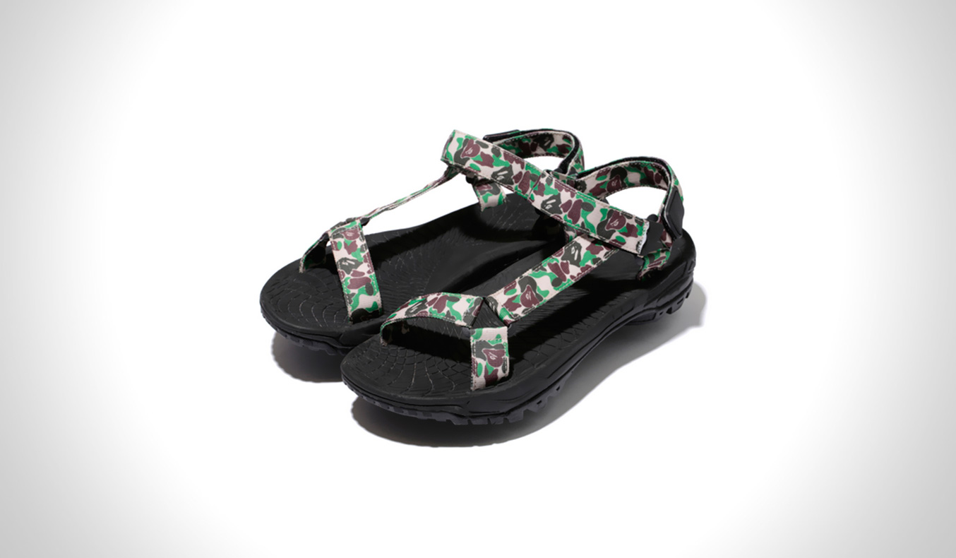 A BATHING APE ABC SANDALS